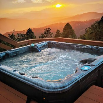 clearwater hot tub at sunrise or sunset