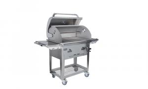 bison premium charcoal cart open