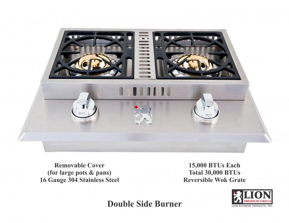 double side burner lion bbq outdoor grills