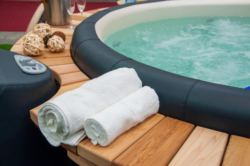 close up of hot tub